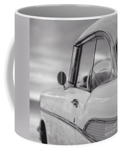 Chevy Coffee Mug featuring the photograph 57 Chevy Belair At The Beach by Edward Fielding