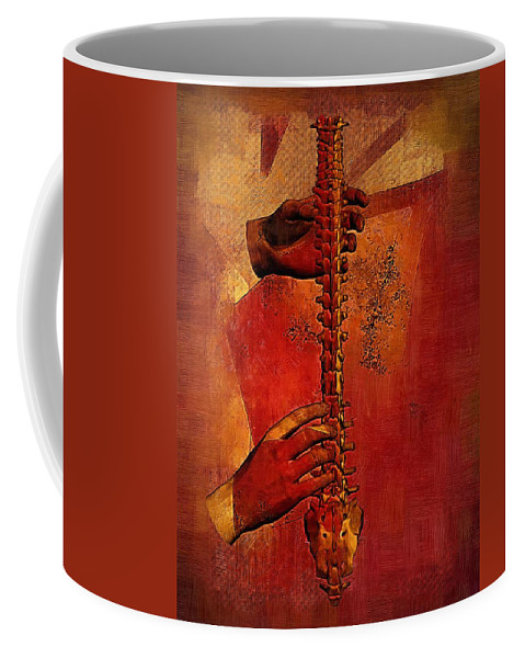 Anatomy Art Coffee Mug featuring the digital art Healing Hands by Joseph Ventura