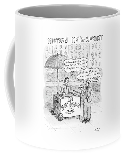 Irony Coffee Mug featuring the drawing New Yorker May 28th, 2007 by Roz Chast