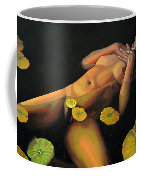 Sexual Coffee Mug featuring the painting 6 30 A.m. by Thu Nguyen