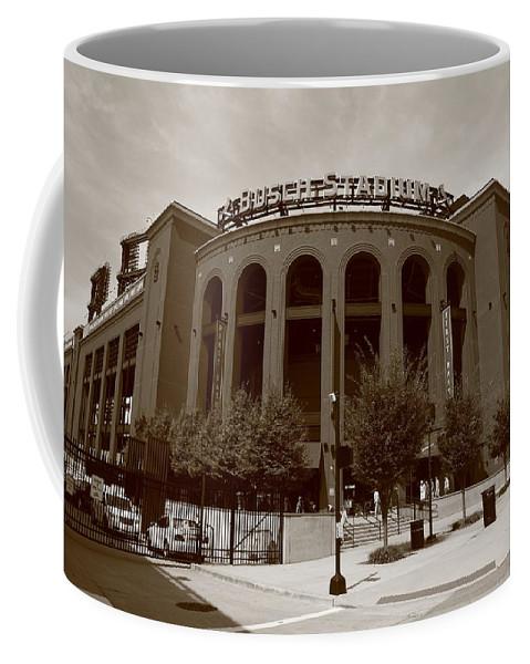 America Coffee Mug featuring the photograph Busch Stadium - St. Louis Cardinals by Frank Romeo