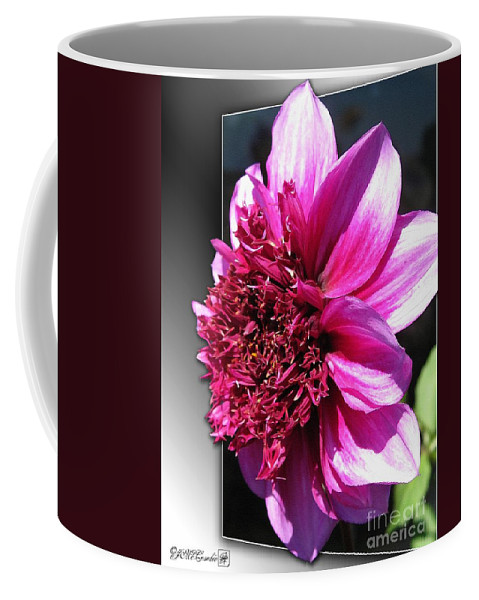 Dahlia Coffee Mug featuring the painting Dahlia Named Blue Bayou by J McCombie