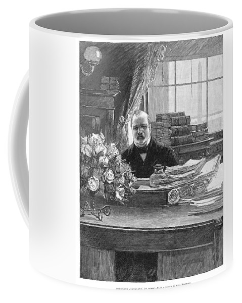 1888 Coffee Mug featuring the painting Grover Cleveland (1837-1908) by Granger