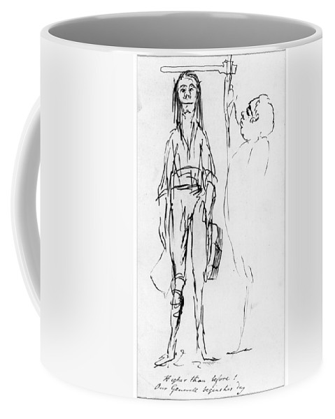 1750s Coffee Mug featuring the drawing James Wolfe (1727-1759) by Granger
