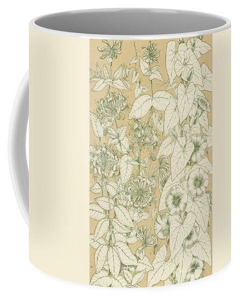 Ornament; Ornamentation; Design; Pattern; Historical; Plates; Leaves; Nature; Botany; Botanical; Leaf; Natural Coffee Mug featuring the painting Leaves From Nature by English School