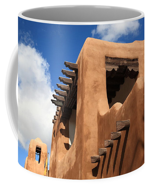 66 Coffee Mug featuring the photograph Santa Fe Adobe Building by Frank Romeo