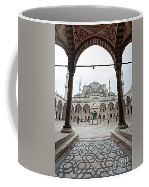 Arabic Coffee Mug featuring the photograph The Blue Mosque - Istanbul by Luciano Mortula