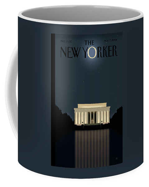 Lincoln Coffee Mug featuring the painting New Yorker November 17th, 2008 by Bob Staake