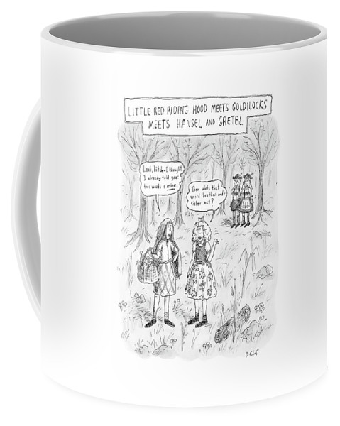 Fairy Tale Coffee Mug featuring the drawing New Yorker April 16th, 2007 by Roz Chast