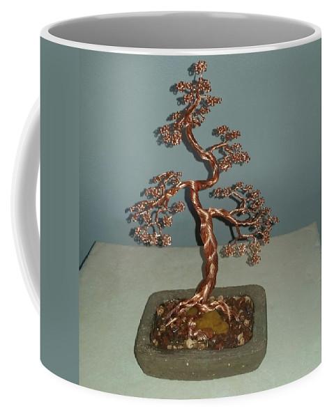 62 Copper Braided Bonsai Tree Wire Sculpture Coffee Mug For Sale By Ricks Tree Art