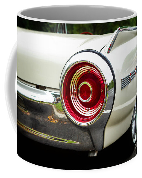 1962 Coffee Mug featuring the photograph 62 Thunderbird Tail Light by Jerry Fornarotto