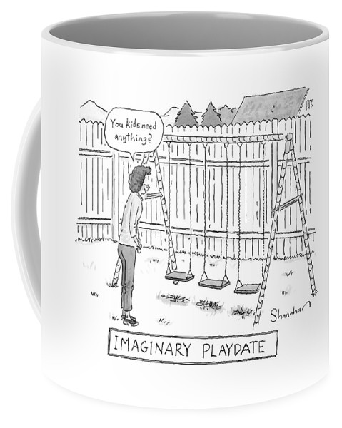 Children Coffee Mug featuring the drawing New Yorker August 13th, 2007 by Danny Shanahan