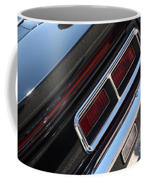 1967 Coffee Mug featuring the photograph 67 Black Camaro Ss Tail Light-8020 by Gary Gingrich Galleries