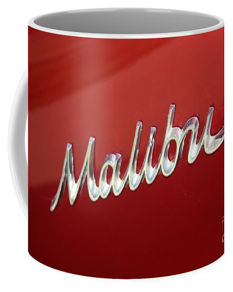 Chevy Coffee Mug featuring the photograph 67 Malibu Chevelle Logo -0058 by Gary Gingrich Galleries
