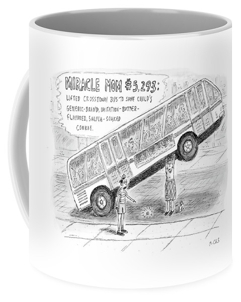 Miracles Coffee Mug featuring the drawing New Yorker October 8th, 2007 by Roz Chast