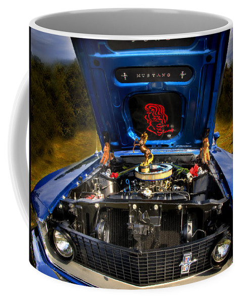 1969 Mustang Coffee Mug featuring the photograph 69 Mustang by Thomas Young