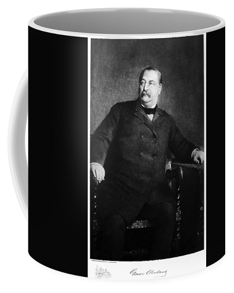 1907 Coffee Mug featuring the painting Grover Cleveland (1837-1908) by Granger