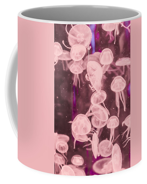 Animal Coffee Mug featuring the photograph Jelly Fish by Jijo George