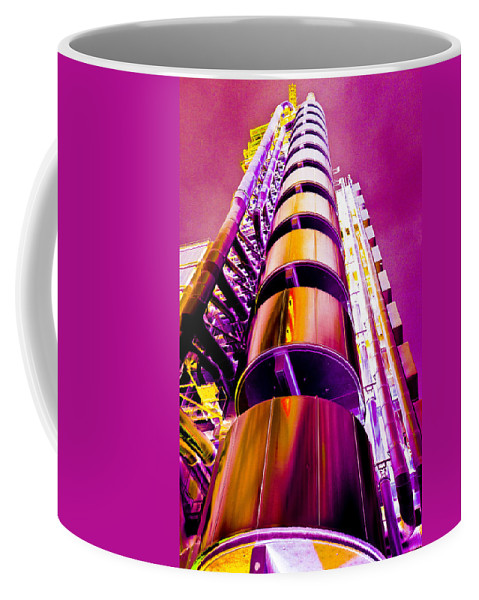 Lloyd's Coffee Mug featuring the digital art Lloyd's Building London Art by David Pyatt