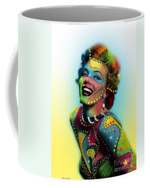Pop Art Coffee Mug featuring the photograph Marilyn Monroe by Mark Ashkenazi