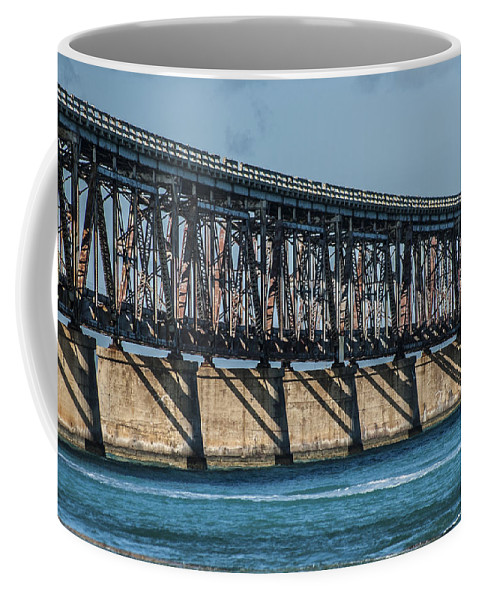 Florida Keys Coffee Mug featuring the photograph 7 Mile Bridge by Kevin Cable