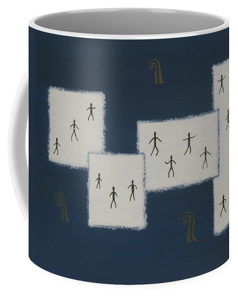 Universal Consciousness Coffee Mug featuring the painting 7 Ray World Dance by Elle Nicolai