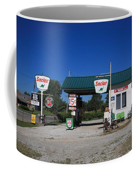 66 Coffee Mug featuring the photograph Route 66 Sinclair Station by Frank Romeo