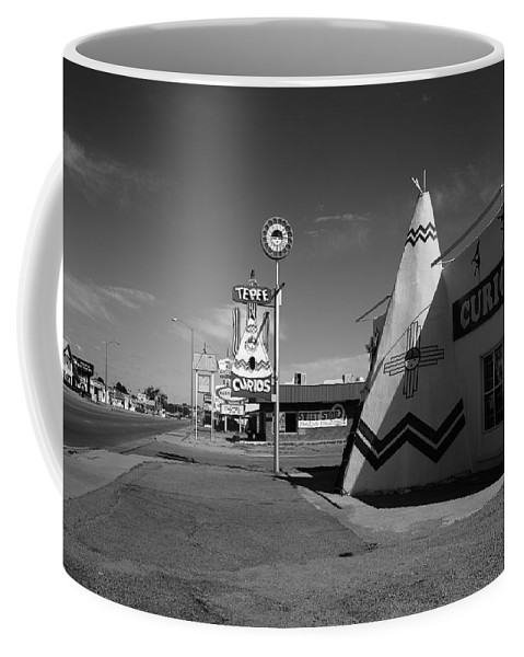 66 Coffee Mug featuring the photograph Route 66 - Tucumcari New Mexico by Frank Romeo