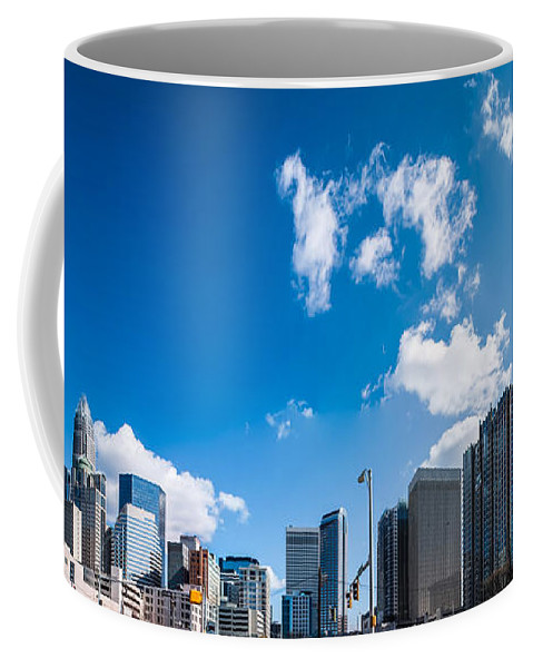 District Coffee Mug featuring the photograph Skyline Of Uptown Charlotte North Carolina by Alex Grichenko