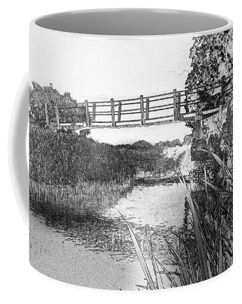 The Bridge Coffee Mug featuring the digital art The River by David Pyatt