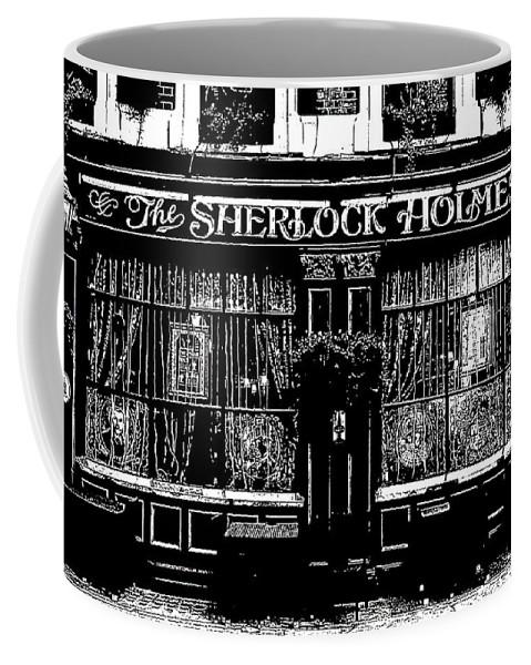 Sherlock Holmes Coffee Mug featuring the digital art The Sherlock Holmes Pub by David Pyatt