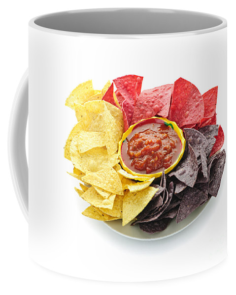 Salsa Coffee Mug featuring the photograph Tortilla Chips And Salsa by Elena Elisseeva