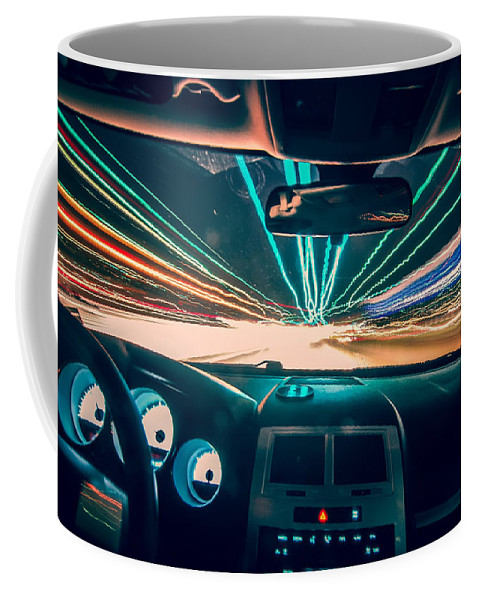 Abstract Coffee Mug featuring the photograph Traveling At Speed Of Light by Alex Grichenko