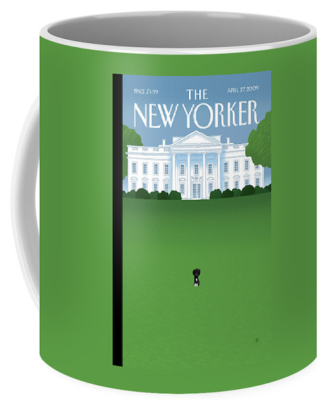 Obama Coffee Mug featuring the painting New Yorker April 27th, 2009 by Bob Staake