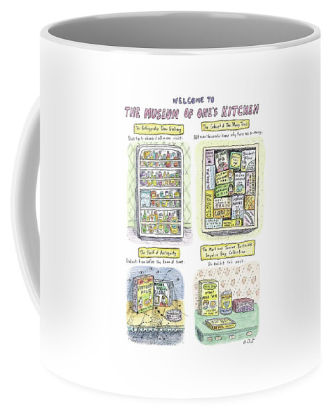 Kitchen Coffee Mug featuring the drawing New Yorker August 13th, 2007 by Roz Chast