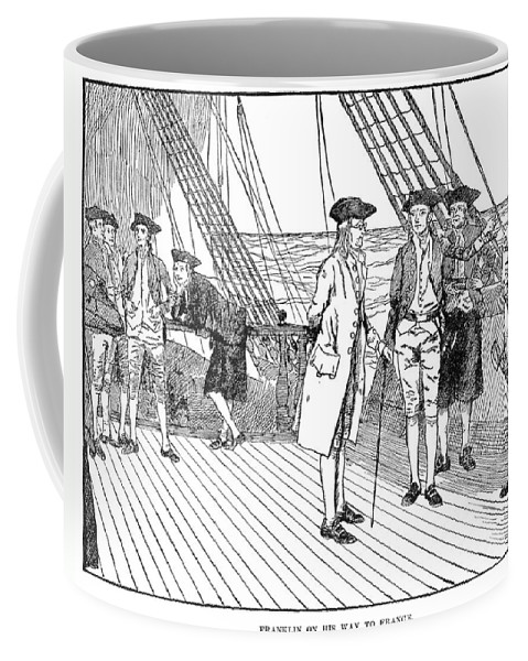 1776 Coffee Mug featuring the photograph Benjamin Franklin (1706-1790) by Granger