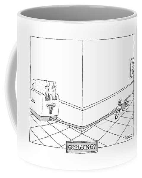 Food Coffee Mug featuring the drawing New Yorker September 4th, 2006 by Jack Ziegler