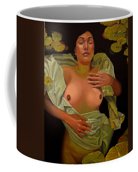 Conceptual Coffee Mug featuring the painting 8 30 A.m. by Thu Nguyen