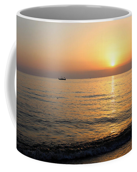 Fishing Coffee Mug featuring the photograph Fishing Boat by Paul Fell