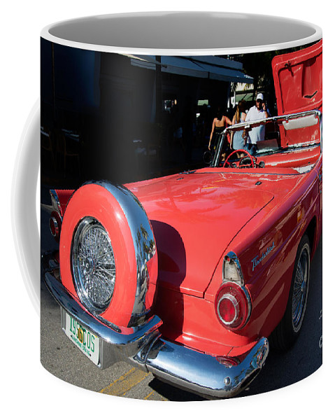 Cars Coffee Mug featuring the digital art Ford Thunderbird by Carol Ailles