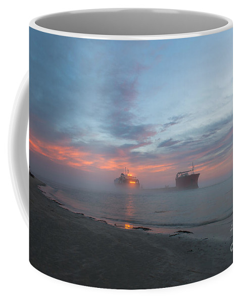 Sunset Coffee Mug featuring the photograph Ghost Ship by Dale Powell