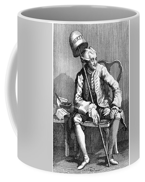 1763 Coffee Mug featuring the painting John Wilkes (1727-1797) by Granger