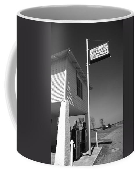 66 Coffee Mug featuring the photograph Route 66 - Lucille's Gas Station by Frank Romeo