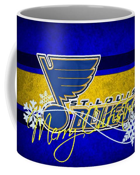 Blues Coffee Mug featuring the photograph St Louis Blues by Joe Hamilton