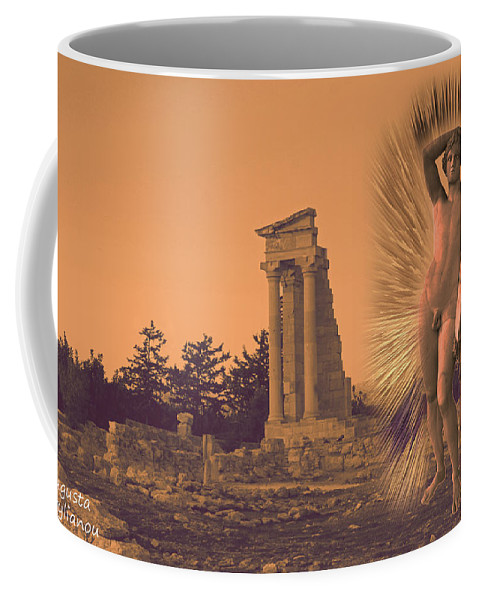 Augusta Stylianou Coffee Mug featuring the digital art Temple Of Apollo by Augusta Stylianou