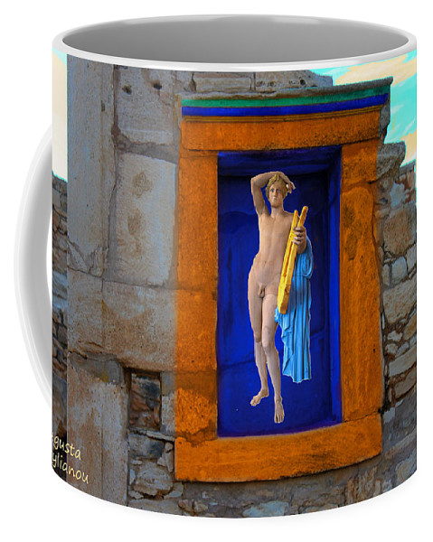 Augusta Stylianou Coffee Mug featuring the photograph The Palaestra - Apollo Sanctuary by Augusta Stylianou