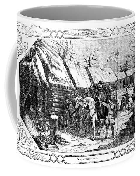 1777 Coffee Mug featuring the photograph Valley Forge, Winter 1777 by Granger