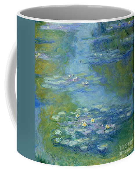French Coffee Mug featuring the painting Waterlilies by Claude Monet