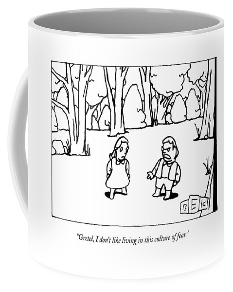 Fairy Tales Coffee Mug featuring the drawing New Yorker September 28th, 2009 by Bruce Eric Kaplan