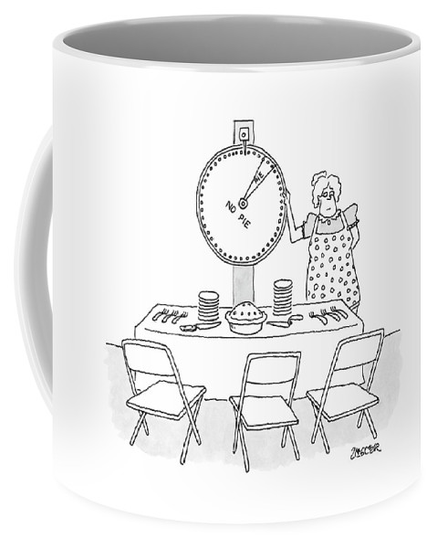 Stingy Coffee Mug featuring the drawing New Yorker February 19th, 2007 by Jack Ziegler